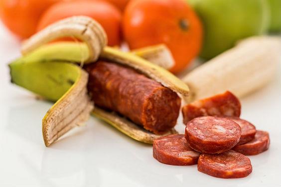 fruchtfleisch banane salami p 564