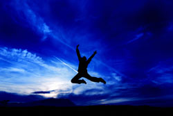 Bewegung führt zu Glücksgefühl