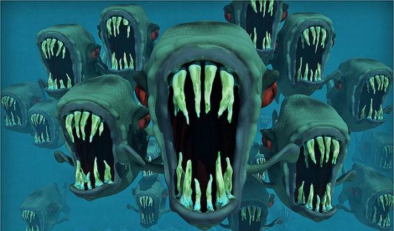 aengste piranhas zeichnung a 564