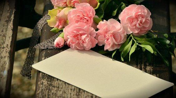 bouquet karte rosen