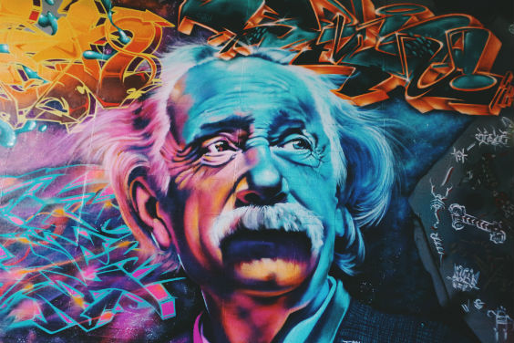 einstein graffitti ju 564