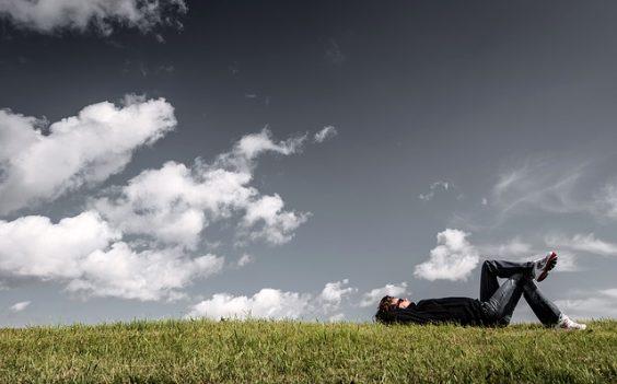 grass gemuetlich himmel relax e