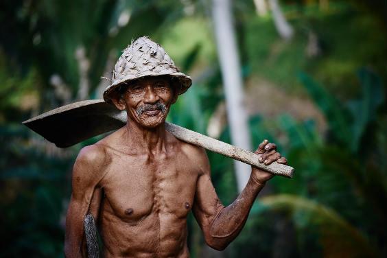 Lächeln alter Mann