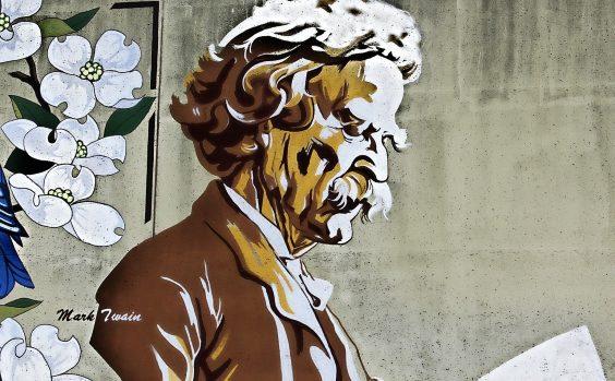 Mark Twain Portraet
