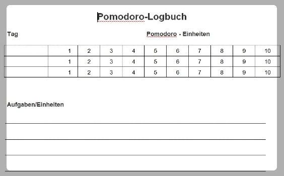 pomodoro logbuch 564