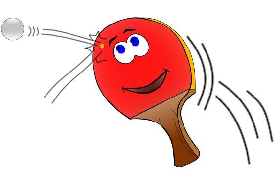 tischtennis schlaeger rot 564
