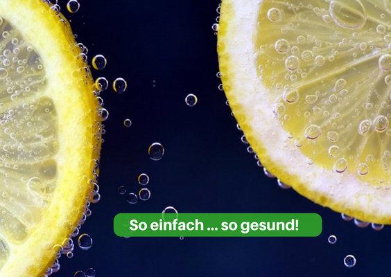 zitronenwasser gesund schale