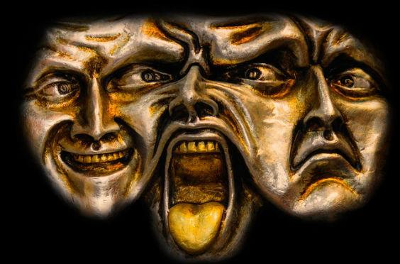 masken mimik schwarz gold j1 564