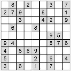 Sudoku zum Ausdrucken Nr. 1