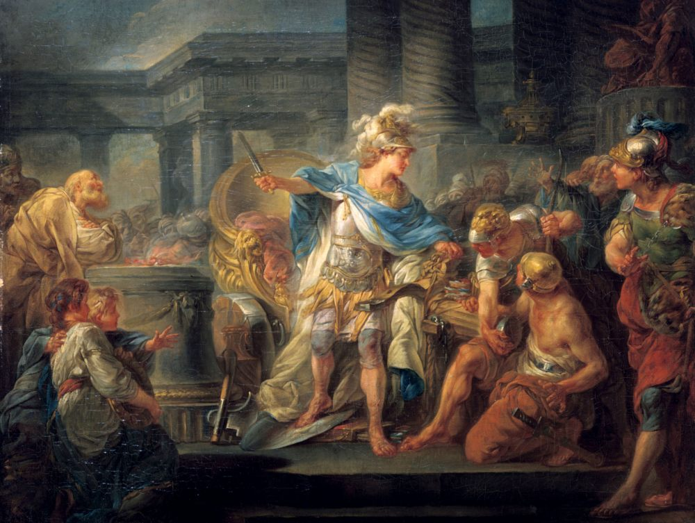 Alexander gordischen knoten durchhauen 1000